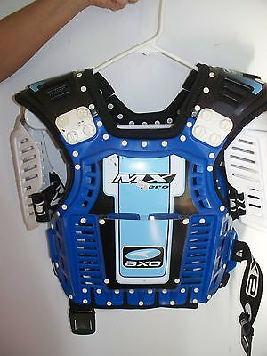 AXO Chest Protector, MX Zero, 56-316, Adult One Size, Blue/White, New w/ Tags