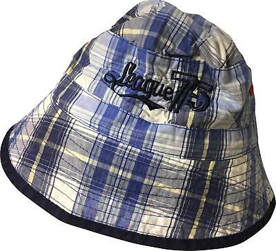 PRE-OWNED Boys TU Blue Mix Detailed Sun Hat Size 3-6 Yrs
