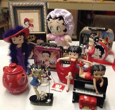 Betty Boop Lot of Misc Collectibles 14 Different Items Varying Conditions.