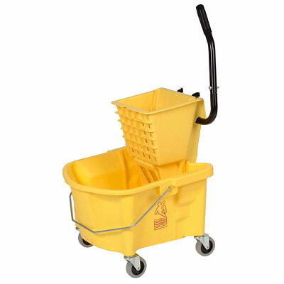 Continental 26-Quart Splash Guard® Combo Pack, Mop Bucket & Wringer (Side-Press)