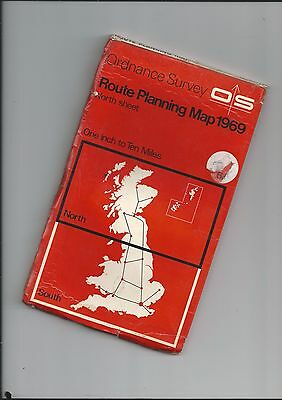 """OS 10mile/"""" Planning  map NORTH SHEET 1969"""