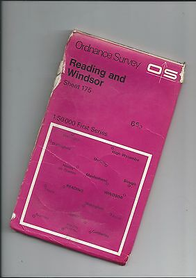 Two OS 1:50000 First Series Maps READING 175 SWINDON 173 Both 1974