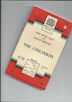 OS 7th Series Map THE CHILTERNS 159 1964