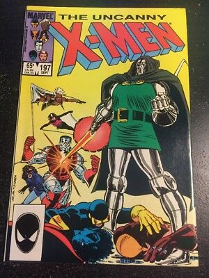 Uncanny X-men#197 Incredible Condition 9.2(1985) Dr.Doom,Arcade,Romita.jr Art!!