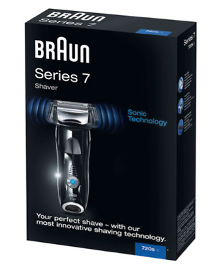 Braun Series 7 720s Cordless Wet and Dry Foil Washable Shaver - Black
