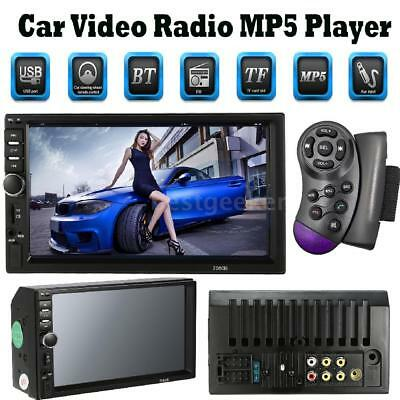 """7"""" 2DIN Car MP5 Player Touch Screen Stereo Radio FM Steering Wheel Control Q6W4"""