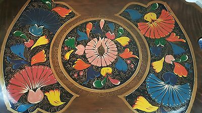 """Hand-Painted Designed Wood Tray With Handles 19.5"""" X 13"""""""