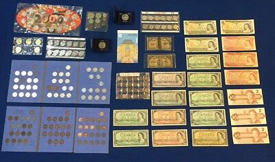 Huge Canadian Coin & Banknotes Estate Lot. See Pictures! Shinplasters & More!
