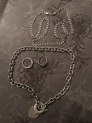 Sterling Silver Tiffany & Co Necklace And Rings