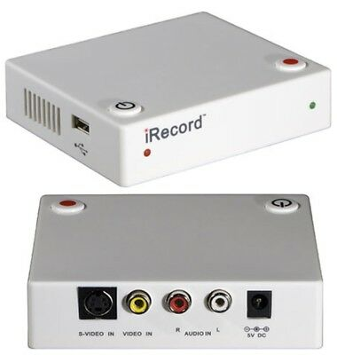 Streaming Networks iRecord Personal Media Recorder White H.264/AVC Encoding used