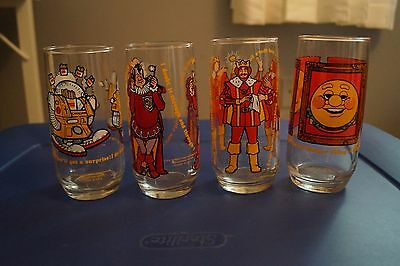 1979 Burger King Collector Glasses - Set of four/Complete