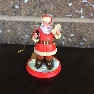 Coca-Cola 75th Anniversary Santa Reading Santa Letters Ornament