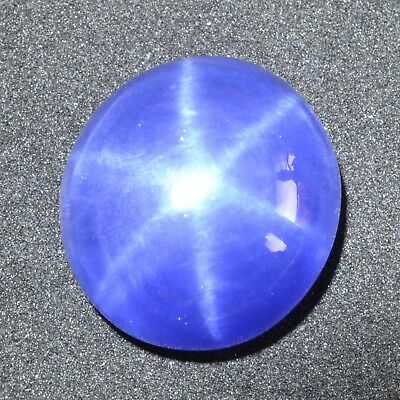 16.65 Ct 14.8x13.7 MM Synthetic Lab Created Blue Star Sapphire Corundum BS6858