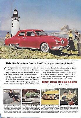 VINTAGE STUDEBAKER AUTO ADVERTISING ORIGINAL 1950 MAGAZINE PAGE # 96 of MANY