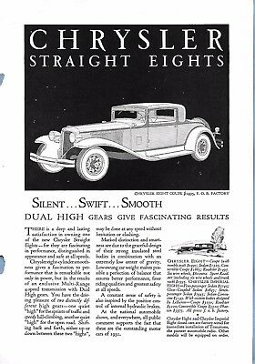 VINTAGE DODGE CHRYSLER AUTO ADVERTISING ORIGINAL 1931 MAGAZINE PAGE # 99 of MANY
