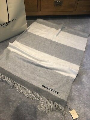~ 100% Auth Luxurious 100% CASHMERE Throw/Blanket from BURBERRY, BNWT, £995! ~