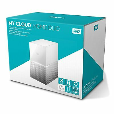WD My Cloud Home Duo NAS Drive 8 TB - White-Brand New Sealed