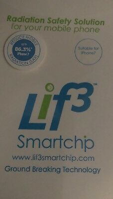 2 X Brand New Lif3 Smartchip Radiation Reducing Safety iPhone 7 RRP $69.95 each