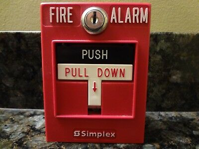 Simplex Pull Station 596B Fire Alarm Box Free Shipping !!!