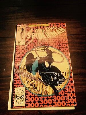 The Amazing Spider-Man #300 (May 1988, Marvel) SIGNED by Todd Mcfarlane