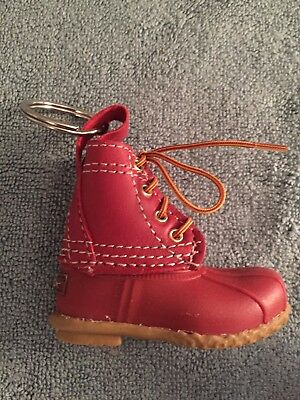 LL Bean Boot Keychain Mini Fob L.L. Red Duck Key Chain Preppy Gift Ornament