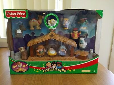 NEW - Fisher Price Little People Deluxe Christmas Story Set
