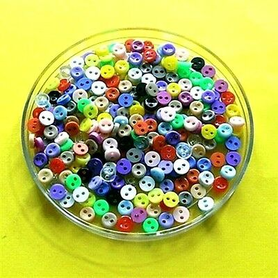 200 Wholesale Tiny Mini Assort Doll Wear Clothes Mixed lot Sewing Button 5mm S1