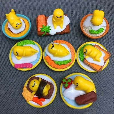 8pcs/set Sanrio Gudetama Collectibles Lazy Egg Minifigures Toy Kid Birthday Hot