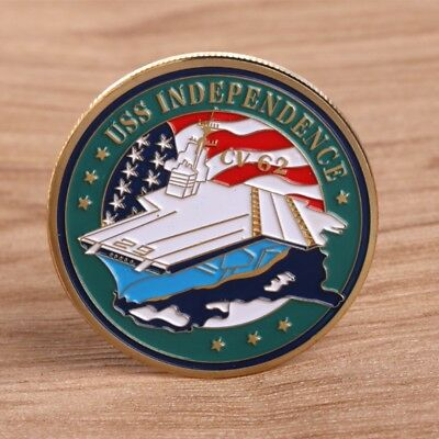 Independent CV62 Aircraft Carrier Navy Commemorative Coin Challenge Craft Gift