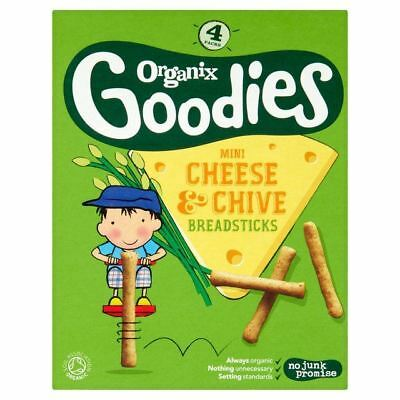 Organix Goodies Cheese and Chive Breadsticks 4 x 20g