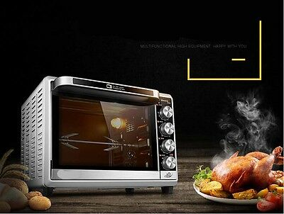 32L Home Commercial White Multi-function Baking Tool Benchtop Electric Oven *