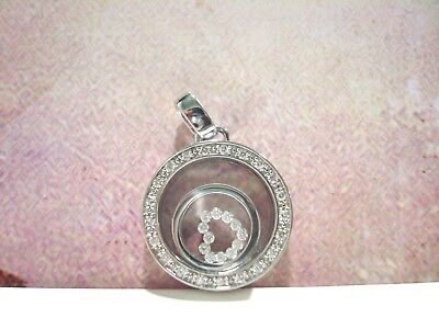 Pendentif Or Blanc 18 Cts 750/000 Collection Dancing Diamonds 10.55 Grs R34360
