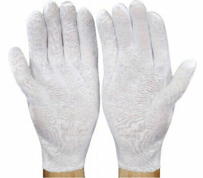 132 Pairs Cotton Lisle Inspection Work Gloves Coin Jewelry Lightweight Women