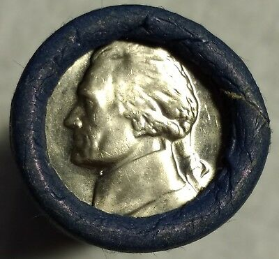 Original Roll of Gem Uncirculated 1968-S Jefferson Nickels! Beautiful roll!