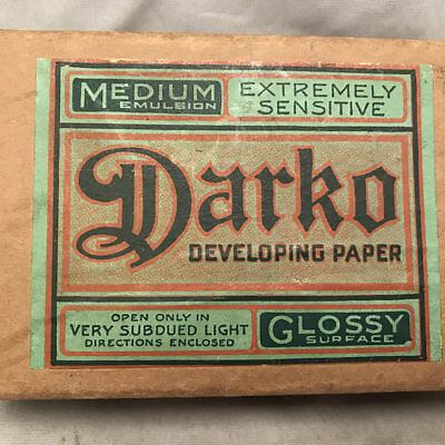 Vintage Darko Developing Paper in Original Box