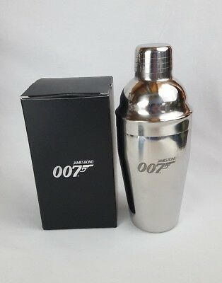 007 James Bond Metal Cocktail Shaker Drink Mixer New in Box