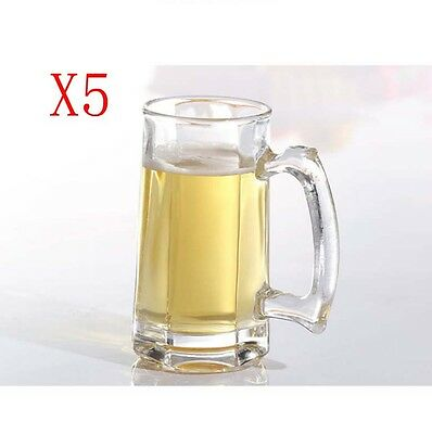 New 5X Capacity 325ML Height 147MM With A Handle Beer Wine Glass/Glassware %