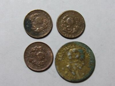 Lot of 4 Different Colombia Coins - 1958 to 1967 - Circulated