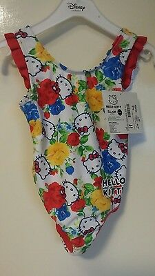 3-6 months Hello kitty swimming costume bathing swim wear. Floral. Bnwt