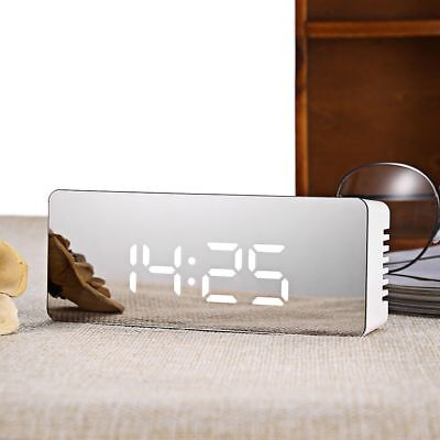 Digital TS-S69 LED Alarm Clock 12 / 24 hours Time / Temperature Display Mirror