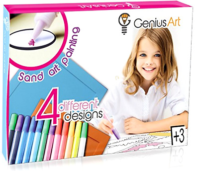 Sand Art Painting Arts and Crafts Gift Toys Kit For Kids Ages 3 Years Old and Up