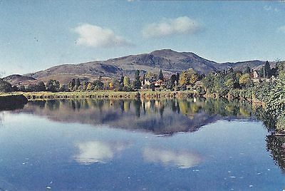 Postcard showing Ben Ledi from the River Teith,Callander,Perthshire.
