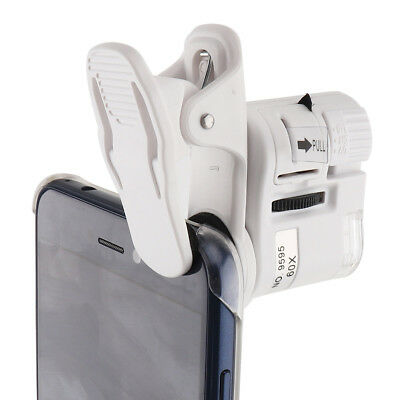 60X Optical Zoom Telescope Clip-on Microscope Lens for Universal Mobile Phone