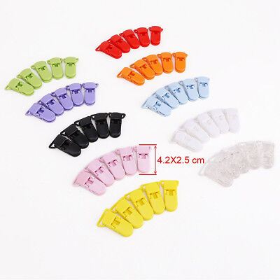 50Pcs Mixed Colors Pacifier Clips Bulk Plastic Baby Kids Dummy Pacifier Holder