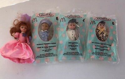 Mcdonalds Madame Alexander Dolls- Lot Of 4- 2003