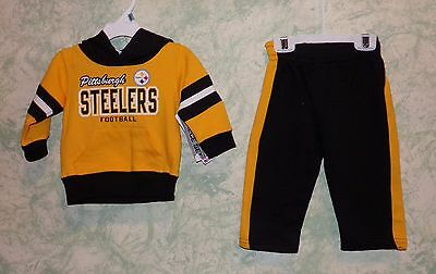 Pittsburgh Steelers Baby Outfit, Size 12 months Steelers Hoodie and pants.