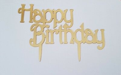 BIRTHDAY CAKE TOPPER Happy Birthday Candle Party Supplies Decor