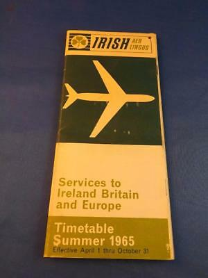 Aer Lingus Irish International Airlines Summer Timetable 1965 Ireland Britain