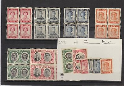 Southern Rhodesia Mint Never Hinged 65-70,singles And Blocks