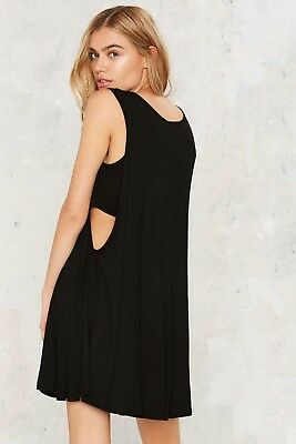 b51192e6f321 NASTY GAL VERY J Women's Black Killed It Cutout Dress Size M NG2 ...